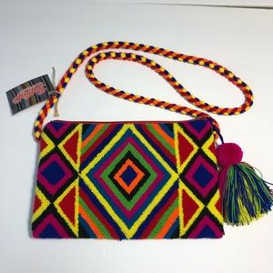 Santefe Upholstered Woven Purse - Made in Columbia